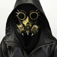 Wish | Pure Handmade Steampunk Cosplay Industrial Mask Gas Masks Daft Punk Mighty Road Warrior Metal Rivet Respirator Goggles Mad Max Vintage Glasses Riding Ventilation Masks