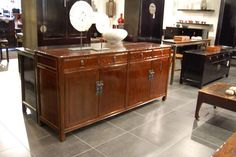 Chinese Antique furniture, dresser from the late 19th century.