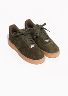Tendance Chausseurs Femme 2017 & Other Stories | Nike Air Force 1 07 Suede  | Green