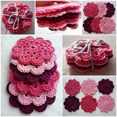 Porta Copos em Crochê estão em alta, fazendo uma dupla linda com os Souplast deixando sua mesa muito mais bonita, várias combinações de co...