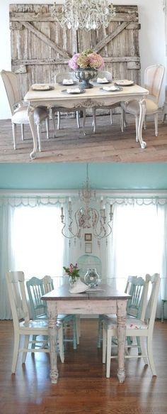 Crea un comedor Shabby Chic con estas ideas / http://www.guiaparadecorar.com
