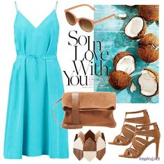 Stylizacje dnia z Inspiruj.net – Wakacyjne destynacje - KobietaMag.pl Summer Outfits, Summer Dresses, Everyday Fashion, Polyvore, Image, Ideas, Summer Sundresses, Sundresses, Outfit Summer
