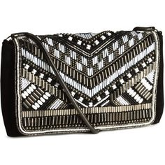H&M Beaded clutch bag