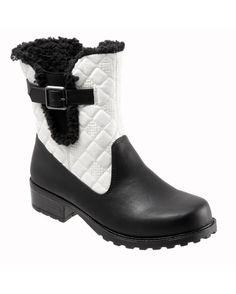Trotters Women's Blast 3 Short Boots - Black/White Quilt