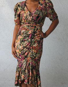 Barbara Barbara Vintage Floral Dress by SumthinCute on Etsy, $37.50