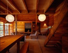 The surprising, innovative homes hidden deep in the forest and high in the mountains are the subject of a new book, Casa Moderna. All Of The Lights, Passive House, Homesteading, Beautiful Homes, Ceiling Lights, Rustic, Lighting, Wood, Design
