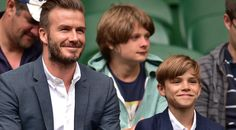 David Beckham brought his son Romeo to Wimbledon! Check out their cute pics together: http://jus.tj/o8y