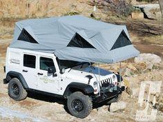 Rooftop tent for Wrangler Unlimited...freakin' sweet.