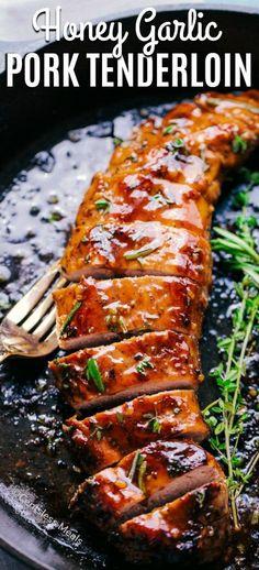 exquisite Honig Knoblauch Schweinefilet Familienessen exquisite honey garlic pork tenderloin family dinner recipe cake, recipes dinner, cake recipes easy, cake recipes with picture, cake recipes fast Barbecue Recipes, Meat Recipes, Cooking Recipes, Healthy Recipes, Recipes Dinner, Game Recipes, Cooking Games, Sausage Recipes, Recipes For Pork Loin