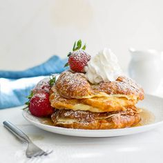 Croissant French Toast is the ULTIMATE way to get your French Toast Fix. Buttery croissants dipped in an extra thick batter and topped with the works!