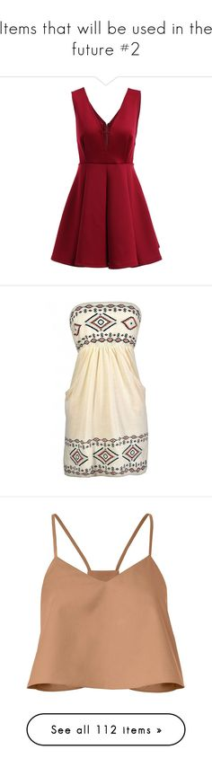 """""""Items that will be used in the future #2"""" by aya-omar ❤ liked on Polyvore featuring dresses, sexy dresses, v neckline dress, v neck sleeveless dress, sleeveless dress, red sleeveless dress, strapless summer dresses, embellished dress, strapless dress and summer dresses"""