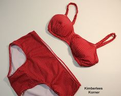 Red Polka Dot Bathing Suit sewing project recently finished Bikinis, Swimwear, Bathing Suits, Sewing Projects, Etsy Seller, Polka Dots, Red, Pattern, Stuff To Buy