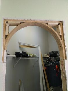 13 in. Prefabricated Framing Arch Kit at The Home Depot - Mobile 13 in. Prefabricated Framing Arch Kit at The Home Depot - Mobile Home Renovation, Home Remodeling, Archways In Homes, Home Depot Projects, Arched Doors, Moldings And Trim, Woodworking Furniture, Woodworking Toys, Woodworking Workshop