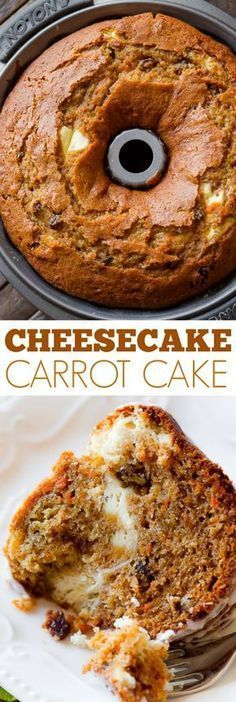 Moist and perfectly spiced carrot bundt cake with cheesecake swirled inside! Recipe found on sallysbakingaddic The post Moist and perfectly spiced carrot bundt cake with cheesecake swirled inside! Rec appeared first on Orchid Dessert. Bunt Cakes, Cupcake Cakes, Muffin Cupcake, Just Desserts, Dessert Recipes, Fall Cake Recipes, Fall Desserts, Kolaci I Torte, Sallys Baking Addiction