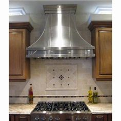 Custom Modern Aire Hood in Brushed Stainless Steel {sigh} Kitchen Vent Hood, Kitchen Exhaust, Chimney Range Hood, Kitchen Design, Kitchen Ideas, Kitchen Tile, Bronze Kitchen, Kitchen Cabinets, Kitchen Redo