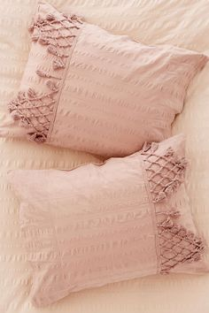 Shop Xandra Trim Sham Set at Urban Outfitters today. Cotton Bedding, Cotton Pillow, Pillow Shams, Bed Pillows, Urban Outfitters Bedding, Magical Thinking, Home Bedroom, Master Bedroom, Tejidos