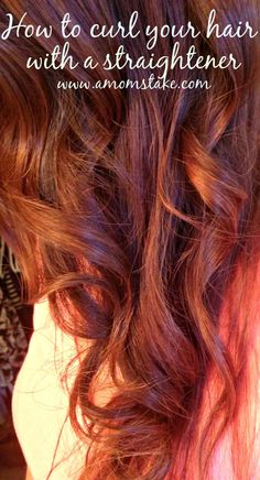 How to curl your hair using a straightener - just 3 easy steps to beach curls! #amomstake