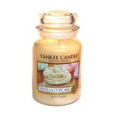 Yankee Candle Vanilla Cupcake Large Jar Candle, Food and Spice Scent >>> Check this awesome product by going to the link at the image. Glade Candles, Scented Candles, Candle Jars, Yankee Candles, Cupcake Kitchen Decor, Farm Kitchen Decor, Homemade Chocolate Cupcakes, Vanilla Cupcakes, Small U Shaped Kitchens