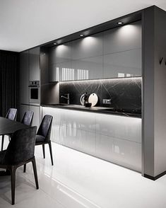 Modern Kitchen Design for 2020 – Important Factors For Choosing The Right Luxury Kitchen Design Contemporary Kitchen Cabinets, Modern Kitchen Interiors, Luxury Kitchen Design, Kitchen Room Design, Contemporary Kitchen Design, Kitchen Cabinet Design, Interior Modern, Luxury Kitchens, Home Decor Kitchen