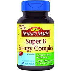 Nature Made Super B Complex Full Strength Mini Softgels 60 ea Carrier to shipping international usps ups fedex dhl 1428 Day By Dragon Shopping *** Check out the image by visiting the link. (This is an affiliate link) Supplements For Pcos, Energy Supplements, Metabolism Booster Supplements, Good Vitamins For Women, Nature Made Vitamins, Vitamins For Energy, Cellular Energy, Vitamin B Complex, Health Remedies