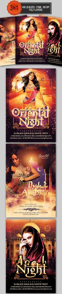 Arabian Nights Flyer Bundle Design Tempalte Download: http://graphicriver.net/item/arabian-nights-flyer-bundle/12504490?ref=ksioks