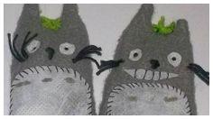 Titeres de dedo Totoro