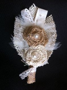 Hey, I found this really awesome Etsy listing at http://www.etsy.com/listing/106835136/custom-burlap-boutonniere-corsage-mixed