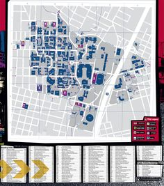 Map of The University of Texas at Austin showing all bicycle facilities and services such as bike racks, locker, and commuter showers.