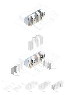 7 Fabulous Ideas Can Change Your Life: Attic Design Cape Cod low attic storage.Old Attic Remodel. A As Architecture, Architecture Graphics, Architecture Drawings, Photo D'architecture, Axonometric Drawing, Attic Design, Interior Design, Presentation Layout, Attic Remodel