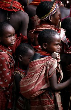Samburu Children . Kenya. So beautiful.