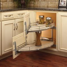 home decor storage solutions Curve 2 Tier Right-Handed Blind Corner Cabinet Organizer Curve Two-Tier Right-Handed Blind Corner Organizer Kitchen Cabinet Design, Kitchen Redo, Home Decor Kitchen, Rustic Kitchen, Interior Design Kitchen, Kitchen Furniture, New Kitchen, Home Kitchens, Kitchen Ideas