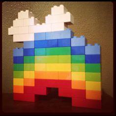 Lego Duplo Rainbow with cloud... By Lyndin & I.