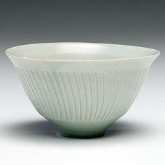 David Leach (1911-2005) - Carved porcelain bowl, c. 1980's