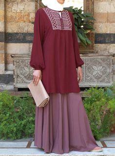Abaya Fashion, Muslim Fashion, Modest Fashion, Fashion Outfits, Hijab Outfit, Hijab Dress, Hijab Abaya, Abaya Designs, Mode Hijab