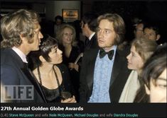 Steve McQueen, His wife Nellie and Michael Douglas at Annual Golden Globe Awards Bruce Lee, Steeve Mac Queen, Westerns, American Legend, Life Magazine, Magazine Photos, Sharon Tate, Cinema, Actor Model