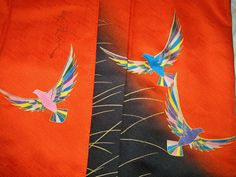 KIMONO by Sensai Saito Vintage Japanese Silk by WandererTextiles