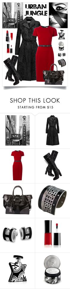 """""""Valentino Burnout Calf Hair Coat Look"""" by romaboots-1 ❤ liked on Polyvore featuring GE, Valentino, Victoria Beckham, Tom Ford, Roger Vivier, Ferrari, Giorgio Armani, Bond No. 9 and Smashbox"""