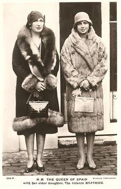 Queen Victoria Eugenie with her eldest daughter, Infanta Beatriz of Spain