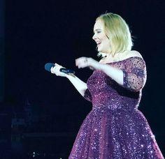 Adele performing at 'Domain Stadium', Perth, Australia (Feb. 28)