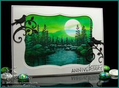 Moonlit Lake FS290 by justwritedesigns - Cards and Paper Crafts at Splitcoaststampers