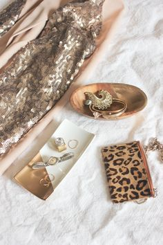 Gold Dipped Jewelry Trays via A Fabulous Fete