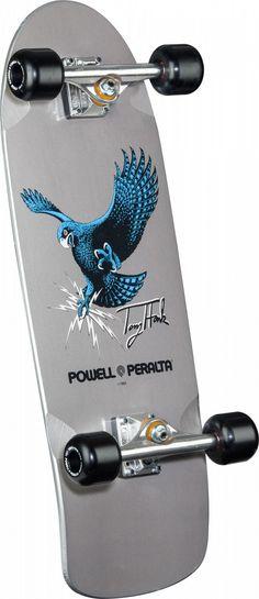 Powell Peralta Tony Hawk Silver Hawk Bones Brigade Complete Skateboard