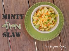 This isn't just your average coleslaw… it's Minty Asian Slaw!