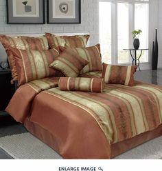 9 Piece King Jane Jacquard Bedding Comforter Set