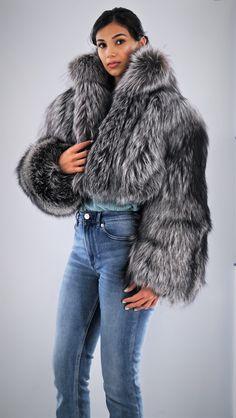 Silver Fox Bolero Jacket Fox Fur Jacket, Fox Fur Coat, Bolero Jacket, Steampunk Clothing, Gothic Steampunk, Victorian Gothic, Steampunk Fashion, Gothic Lolita, Alternative Mode