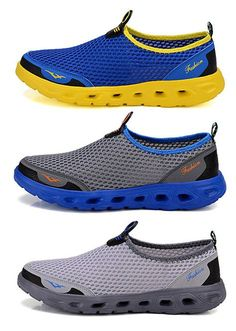 Men Honeycomb Mesh Breathable Quick Drying Casual Beach Shoes