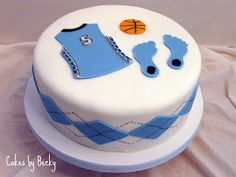 Tarheels basketball birthday cake :)