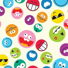 Happy Faces for Wall Decor by Print a Wallpaper - Offering Wallpaper Solution at USD 2.0 / sq.ft. Email us at info@printawallpaper.com or call us at +91-98110-31749