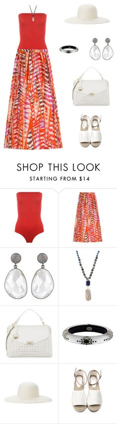 """Untitled #1860"" by bushphawan ❤ liked on Polyvore featuring WearAll, Emilio Pucci, Panacea, Versace, Alexis Bittar and Ace of Something"