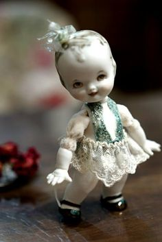 Art porcelain dolls by Oksana Saharova: Малышка LoveChild. porcelain. 15cm